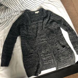 Black heathered cardigan